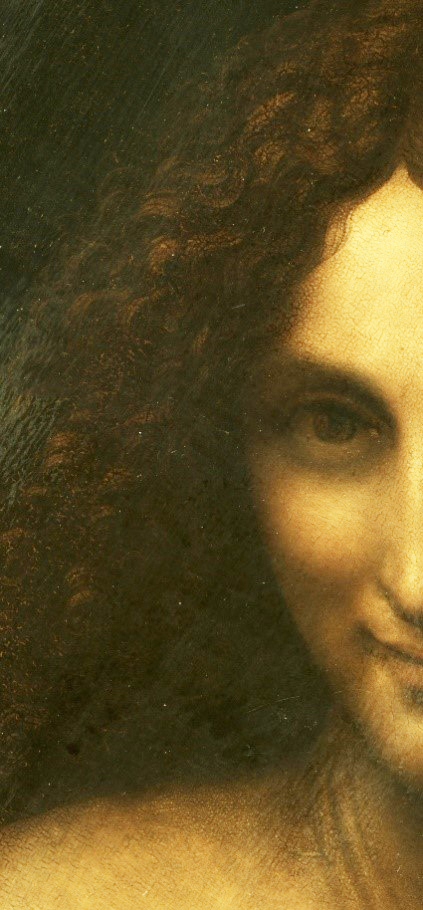 Saint Baptist painting expose's how Lionardo-Leonardo Da Vinci was in his 50's!