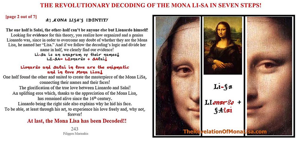 THE DECODING OF THE MONA LISA!!!