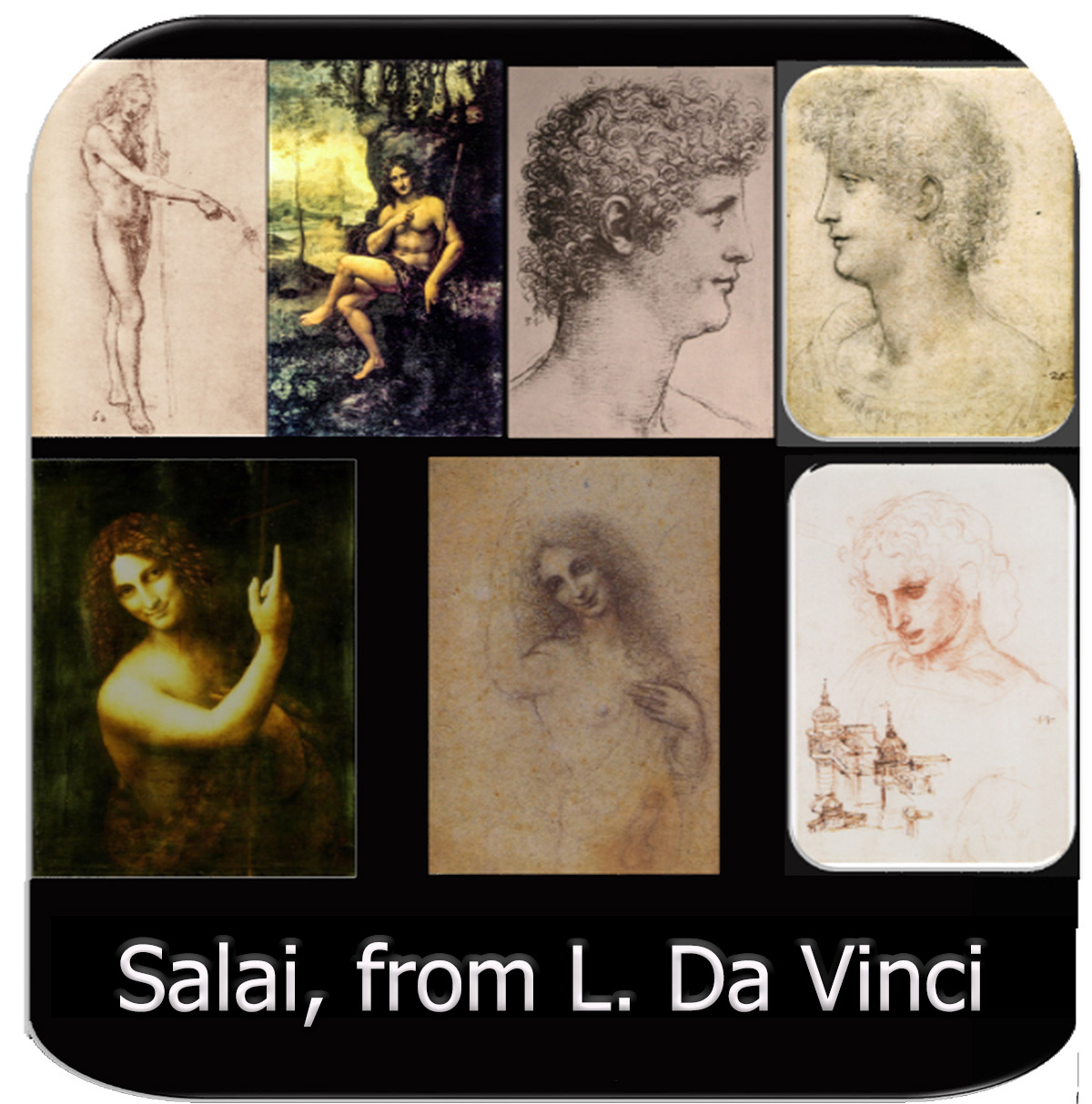Salai drawings from Da Vinci